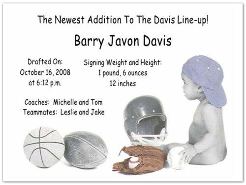 Jordan Birth Announcements - Set Of 20 front-1045407