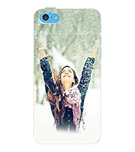 ColourCraft Beautiful Girl Design Back Case Cover for APPLE IPHONE 5C