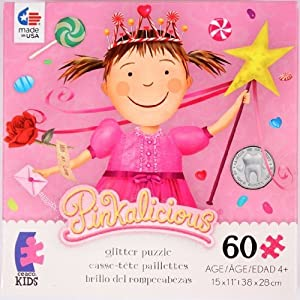 Pinkalicious 60 Piece Glitter Puzzle - Candy Princess