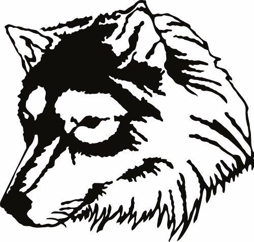 Design with Vinyl Design 184 - Black Wolf Animal Vinyl Wall Decal, 20-Inch By 20-Inch, Black