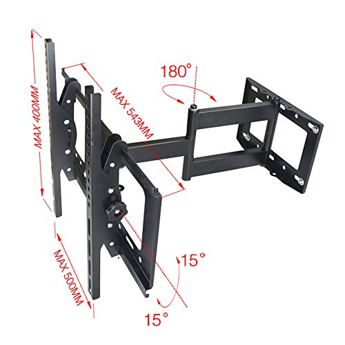 Corner Tv Wall Mount Bracket Tilt Swivel Full Motion