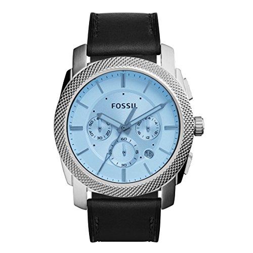 Fossil FS5160 - Reloj de pulsera hombre, Cuero, color Negro
