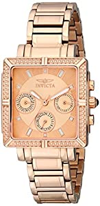 Invicta Women's 14872 Wildflower Rose Gold Dial 18k Rose Gold Ion-Plated Stainless Steel Watch