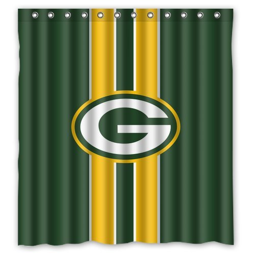 Green Bay Packers Decorative Bath Collection Shower Curtain 72 X 72