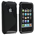 iPhone 3GS Case, TechSpec(TM) Black S-Line TPU Rubber Skin Case Cover for Apple iPhone 3G / 3GS