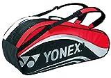 ヨネックス(YONEX) ラケットバック6 (リュック付き、テニス6本用) ブラック×レッド BAG1612R