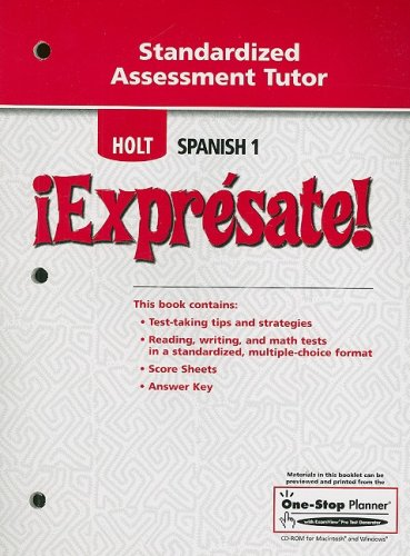 ¡Exprésate!: Standardized Assessment Tutor Levels 1A/1B/1 (Expresate 1 compare prices)