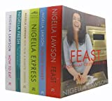 Nigella Lawson Nigella Lawson Food and Cookery 6 Books Collection Set (Feast: Food that Celebrates Life, Forever Summer, Nigella Express, How To Be A Domestic Goddess: Baking and the Art of Comfort Cooking, Nigella Fresh: Delicious Flavors on Your Plate