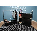 Ace Baby Furniture Lion Mobile Double-Sided Bookcase, Black