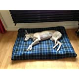 KosiPet® BLUE CHECK Fleece Deluxe LARGE Waterproof Dog Bed,Dog Beds,Pet Bed,Dogbed,Dogbeds,Petbed,Petbeds,