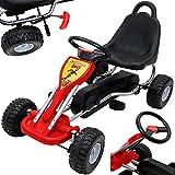 Gokart für Kinder Rot Tretauto Go Kart Tretfahrzeug