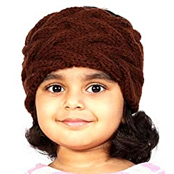 Magic Needles Handknitted Girls Double Cable Headband/Earwarmer - Brown