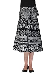 SFL Women's Cotton Wrap Skirt (Black And White)