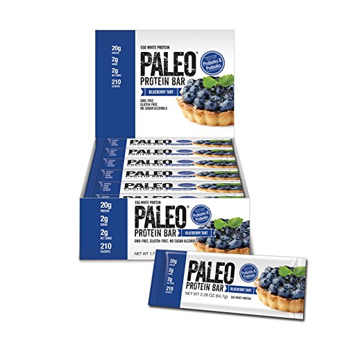 Paleo Protein Bar (Blueberry Tart) 12 Bars (20g Egg White Protein 2 Net Carbs w/Probiotics) (Bakery Paleo Protein compare prices)