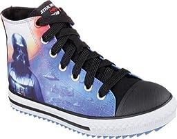 Skechers Kids Star Wars Jagged Starfleet Lace-Up Sneaker (Little Kid/Big Kid), Black/Multi, 1.5 M US Little Kid