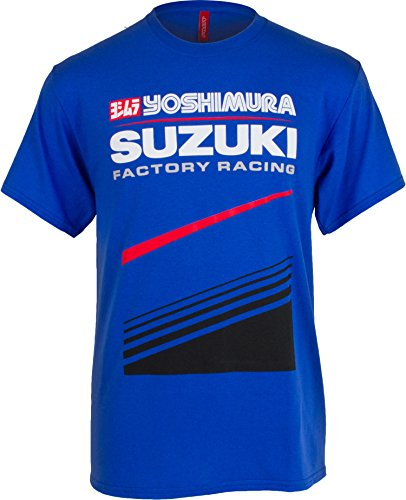 Pilot Motosport Men's Yoshimura Suzuki Factory Racing Team T-Shirt (Blue, X-Large) (Suzuki Clothing compare prices)