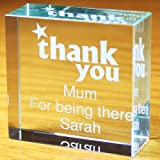 Thank you Medium Crystal Token. This is a great product that can be personalised to your requirements ( please see main discription for full details ) Ideal gifts and presents for weddings, Christenings, Birthdays, Christmas etc...