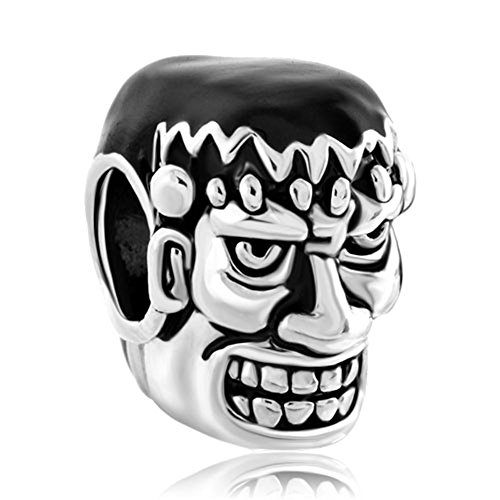 Weird Halloween Dr Frankenstein Charm New Sale Cheap Beads Fit Pandora Jewelry Charms Bracelet Gifts