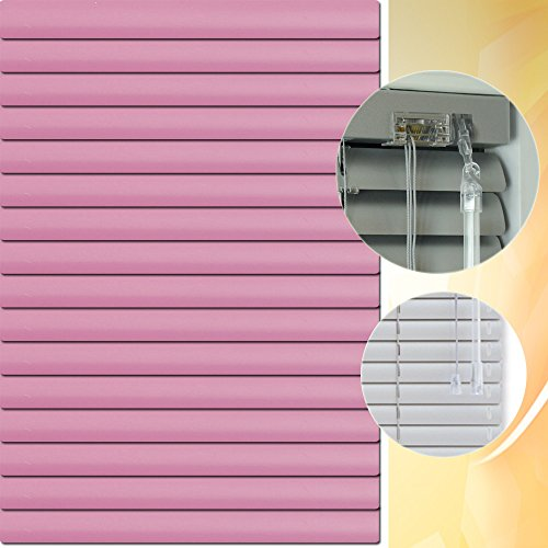 Aluminium Jalousie 175 x 200 cm (Breite x Höhe) – Lamellenfarbe 1411 pastellviolett // Maßanfertigung Alu Jalousien Jalousette Rollo Plissee