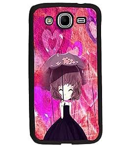 PrintDhaba Umbrella Girl D-4661 Back Case Cover for SAMSUNG GALAXY MEGA 5.8 (Multi-Coloured)