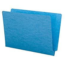 Smead Colored End Tab File Folder, Shelf-Master® Reinforced Straight-Cut Tab, Legal Size, Blue, 100 per Box (28010)
