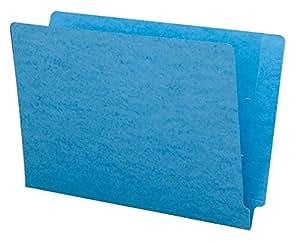 Smead Colored End Tab File Folder, Shelf-Master® Reinforced Straight-Cut Tab, Legal Size, Blue, 100 per Box (28010)
