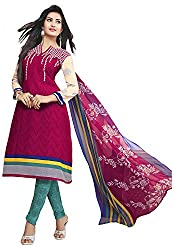 VSS Collections Women's Synthetic Unstitched Dress Material(1061,Multi-Color)