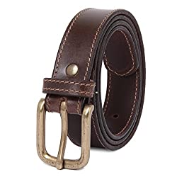 Handcrafted Exclusive Mens Leather Belt,34
