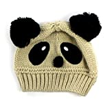 Susen 1pc Fashion Cute Baby Kids Girls Boys Stretchy Warm Winter Panda Cap Hat Beanie (Rice)