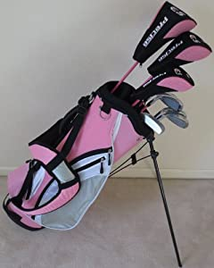 Ladies Latest Model Complete Golf Set Clubs Right Handed Pink Color Driver, 3 Wood,... by AGC