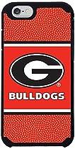 Georgia Bulldogs Team Color Football Pebble Grain Feel iPhone 6 Case,One Size,Red