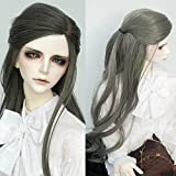 1/3 9-10 Inch BJD Doll Wig Heat Resistant Fiber Long Gray Wave Curly Doll Hair BJD Doll Wig for 1/3(171#, 1/3) (Color: 171#, Tamaño: 1/3)