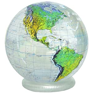 "Jet Creations 36"" Inflatable Globe - Clear Topographic"