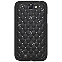 Amzer 95145 Diamond Lattice Snap On Shell Case - Black For Samsung Galaxy Note II GT-N7100