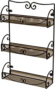 DecoBros 3 Tier Wall Mounted Spice Ra…