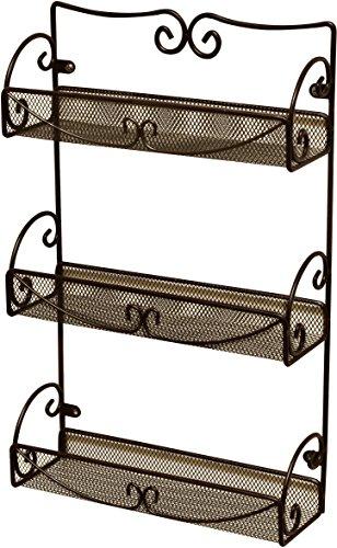 DecoBros 3 Tier Wall Mounted Spice Rack, Bronze (Deco Spice Jar compare prices)