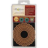 Spellbinders S4-124 Nestabilities 6-Piece Concentric Die Template, Classic Scalloped Circles, Large