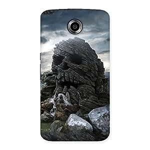 Enticing Skull Rock Back Case Cover for Nexsus 6