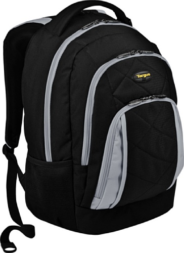 Targus Brilliance II Backpack Designed for 16-Inch Laptop - TSB219US (Black/Gray)