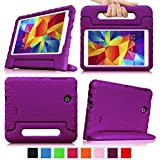 Fintie Samsung Galaxy Tab 4 7.0 Kiddie Case - Light Weight Shock Proof Convertible Handle Stand Kids Friendly for Samsung Tab 4 7-Inch Tablet, Purple