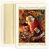 Santa With Toys Christmas Cards