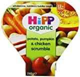 HiPP Organic Stages 3 and 4 12+ month Growing up Meal Potato, Pum Packin and Chicken Scrumble 4 x 260 g (Pack of 2, Total 8 Meals)