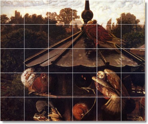 William hunt historical custom tile mural 25 30x36 inches for Custom mural cost
