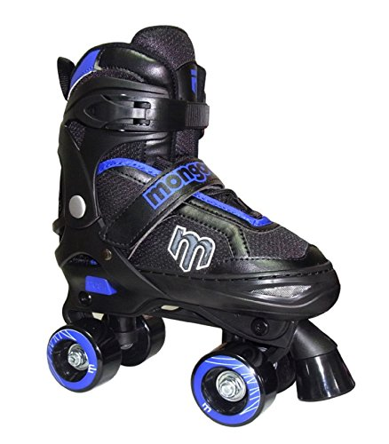 Mongoose-Adjustable-Quad-Roller-Skate-Blue-and-Black-Sizes-1-4