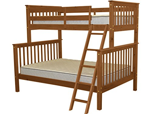 Bedz King Bunk Bed, Twin Over Full Mission Style, Espresso (Full Expresso Bed compare prices)