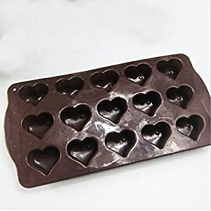 Silicone Mini Heart Muffin & Cupcake Baking Pans, Non-Stick, Easy To Clean, Oven / Microwave / Dishwasher / Freezer safe