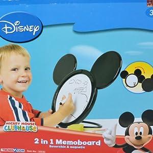 Disney Mickey Mouse Toodle Ears 2in1 Kids Whiteboard, Blackboard, Reversible and Magnetic Dry Wipe Chalkboard Art Easel