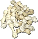 Brand New 100 count 2.5&#8243; Natural Rawhide Mini Bones Item #200