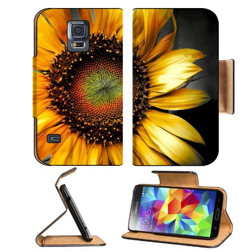 Nature Flowers Flora Sunflowers Pretty Samsung Galaxy S5 Sm-G900 Flip Cover Case With Card Holder Customized Made To Order Support Ready Premium Deluxe Pu Leather 5 13/16 Inch (148Mm) X 2 1/8 Inch (80Mm) X 5/8 Inch (16Mm) Msd S V S 5 Professional Cases Ac