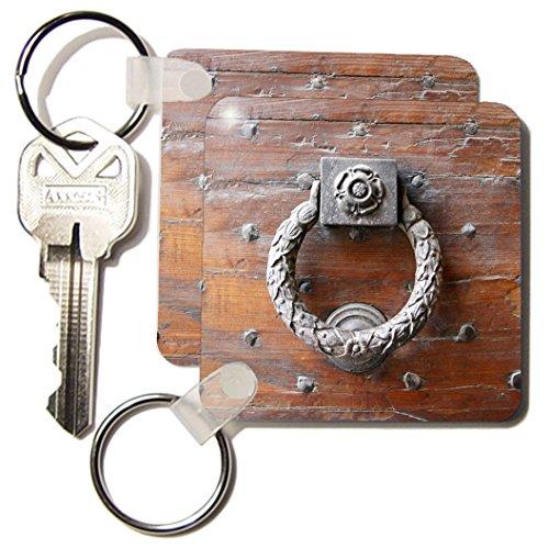 Kc_82133_1 Danita Delimont - Doorways - Door Handle, Italy - Eu16 Mme0149 - Michele Molinari - Key Chains - Set Of 2 Key Chains